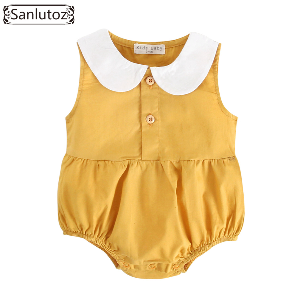 Sanlutoz Baby Summer Romper Cotton Baby Clothes 2018 Girls Newborn Clothing for Infant Toddler New Born puseky 2017 infant romper baby boys girls jumpsuit newborn bebe clothing hooded toddler baby clothes cute panda romper costumes