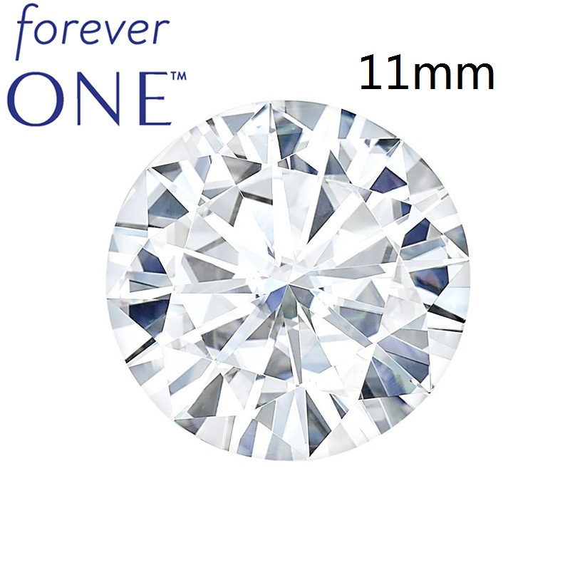4 Carat Certified Charles Colvard FOREVER ONE Round Brilliant Cut White Moissanite Loose Gemstone Stone 11mm VVS VS D E F Color ...
