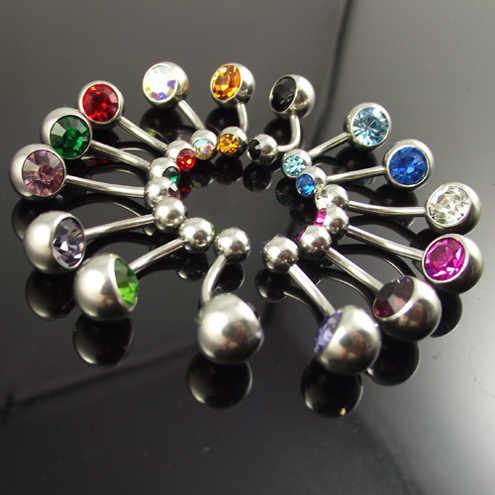 5 Pieces מערבבים צבע נירוסטה טבעות טבור טבעת בטן פנינה כפולה בטן סקסית תכשיטי פירסינג