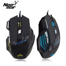 Wire Gaming Mouse For Overwatch 7 Buttons 5500 DPI Gamer Mice For Win 2000 7 8 10 Gamer LED USB Optical Mouse For PC Computer 5500 dpi adjustable 7 buttons running river pattern optical usb wired woven nylon line pro gamer gaming mouse mice with breathin