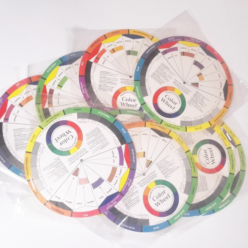 Online color wheel games - Freeshipping 15 Sets Micro Pigment Color Wheel Guide Tattoo Permanent Makeup Accessories China Mainland
