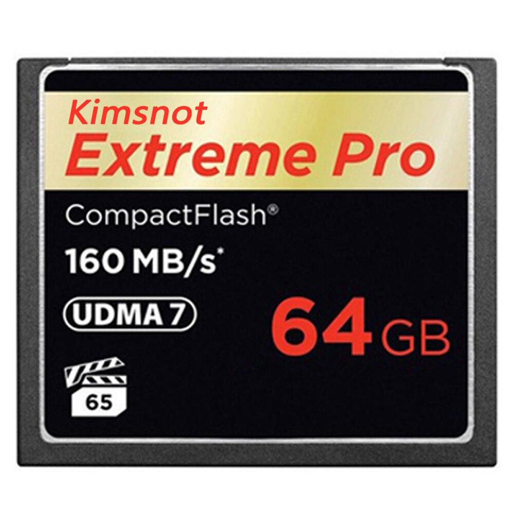 Kimsnot Extreme Pro tarjeta de memoria Flash compacto tarjeta 32GB 64GB 128GB 256GB tarjeta CF Compactflash de alta velocidad 160 mb/s 1067x UDMA 7