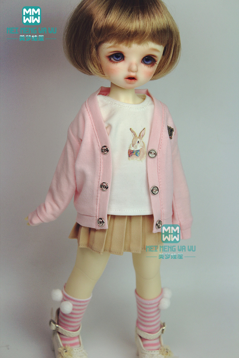 BJD Accessories Doll Clothes For 27cm--60cm 1/3 1/4 1/6 BJD Doll Fashion Qualities Print T-shirt Sock