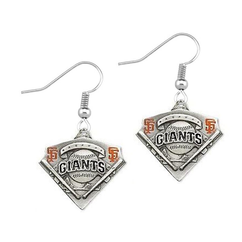 Amazon explosion models San Francisco 49ers team alloy enamel earrings