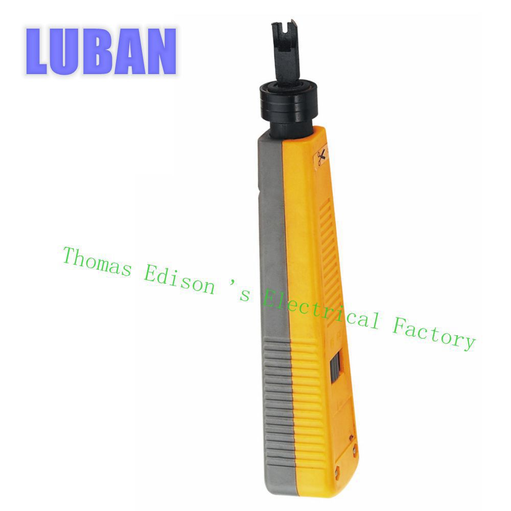 LUBAN Network Cable impact tool module block insertion punch down tool 110 type patch panel hookup tool