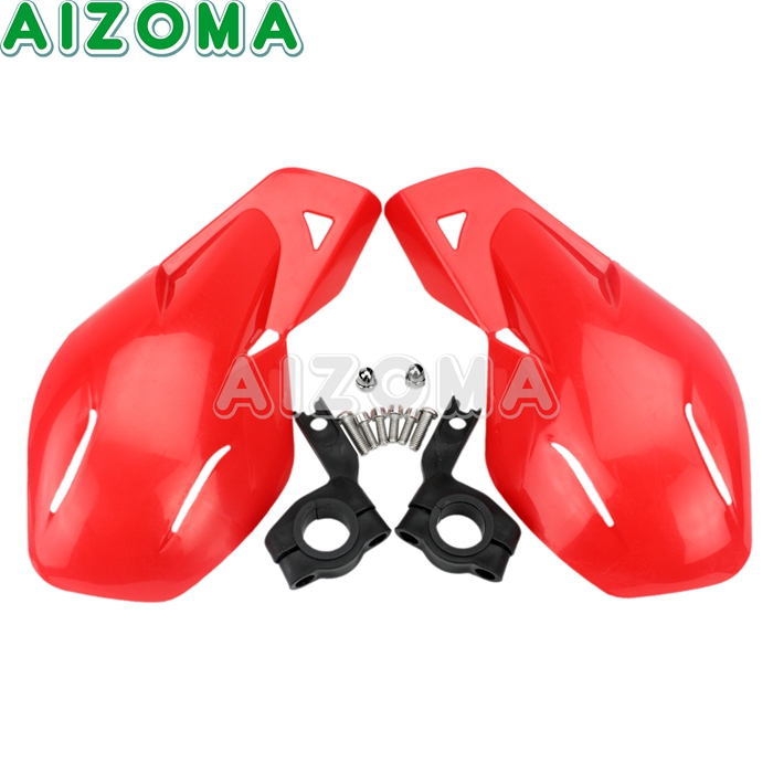 Dirtbike Modification Protective Gear Guard Red Universal Hand Protector Handguard 7/8