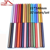 11*140mm Traditional Sealing Wax Stick for Antique Postal Envelope Letter Decoration - 32 Color/set