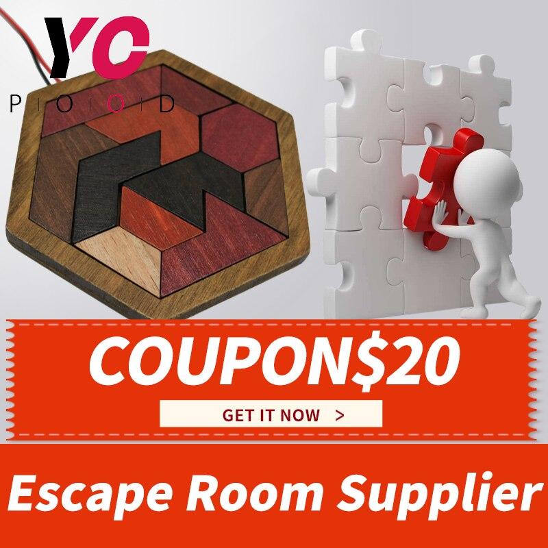 Puzzle ou Tangram vraie vie échapper salle de puzzle Prop 1987 terminer les 11 pièces de puzzle pour débloquer la salle de jeu YOPOOD