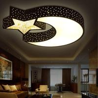 Children Lamp Star Moon LED Ceiling Light Creative Personality Bedroom Ceiling Romantic Crystal LED Ceiling Lamps