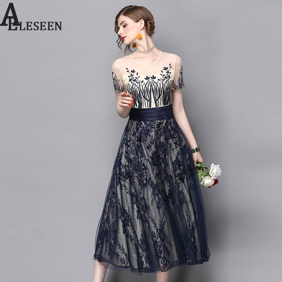 Designer dresses 2017 summer fashion new high quality mesh for High fashion couture dresses