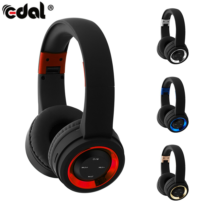 EDAL Wireless Bluetooth Headphone with Microphone Support TF Card FM Radio Stereo Deep Bass Headset for Iphone Mp3 Smartphone