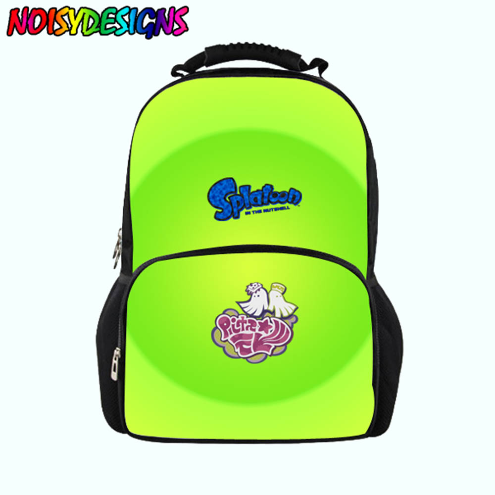 Splatoon Pattern Large Capacity Backpack Stylish Youth Girls Boys School bags Travel Backpack Junior Printing School BagsSplatoon Pattern Large Capacity Backpack Stylish Youth Girls Boys School bags Travel Backpack Junior Printing School Bags