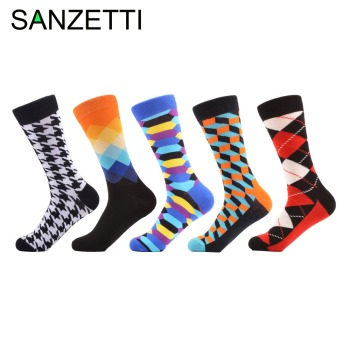 SANZETTI 15 pairlot Men socks classic business brand calcetines hombre socks men cotton casual socks dress sock black NO BOX meia colorida feminina