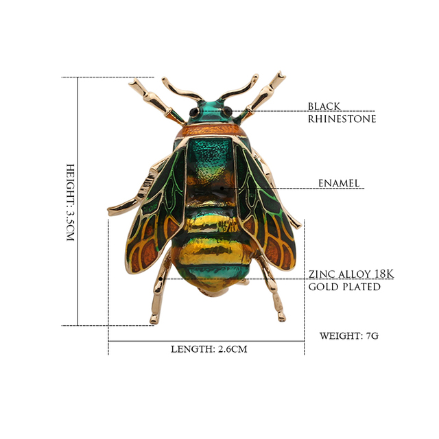 Купить женская/детская брошь в виде животного насекомое с эмалевым картинки