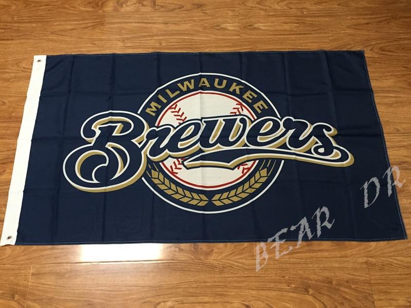 Milwaukee Brewers Major League Baseball MLB bandiera 3X5FT O 2X3FT due dimensioni può
