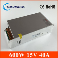 Switching power 15V 40A 600W Single Output Uninterruptible ac 220v to dc 15v Switching power supply unit for LED Strip light
