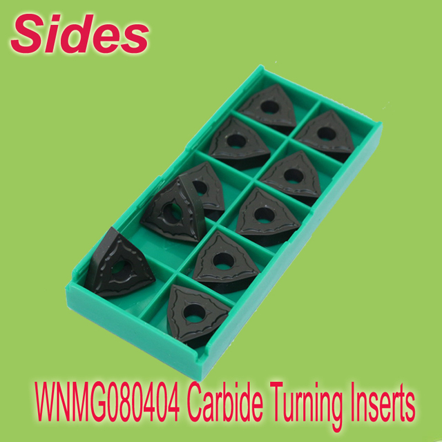 Free Shipping  WNMG080404  Indexable Carbide Turning Lathe  Inserts Cutter  for Lathe Holder MWLNR/WWLNR