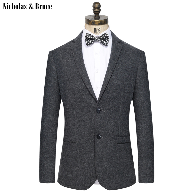 N&B Suit Jacket 2019 Men Formal Black Blazer Mens Frock Coat Men's Jackets For Weddings New Woolen Cotton Suit Coat Blazer SR18