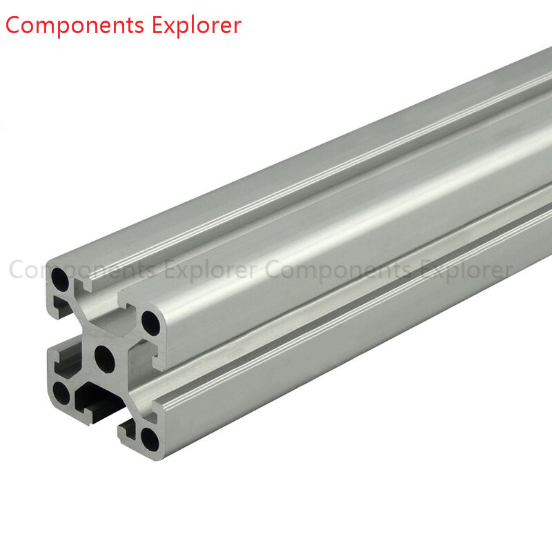 Arbitrary Cutting 1000mm 4040W Aluminum Extrusion Profile,Silvery Color.
