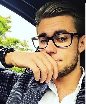 2018 Fashion Women Glasses Frame Men Black  Eyeglasses Frame Vintage Square Clear Lens Glasses Optical Spectacle Frame