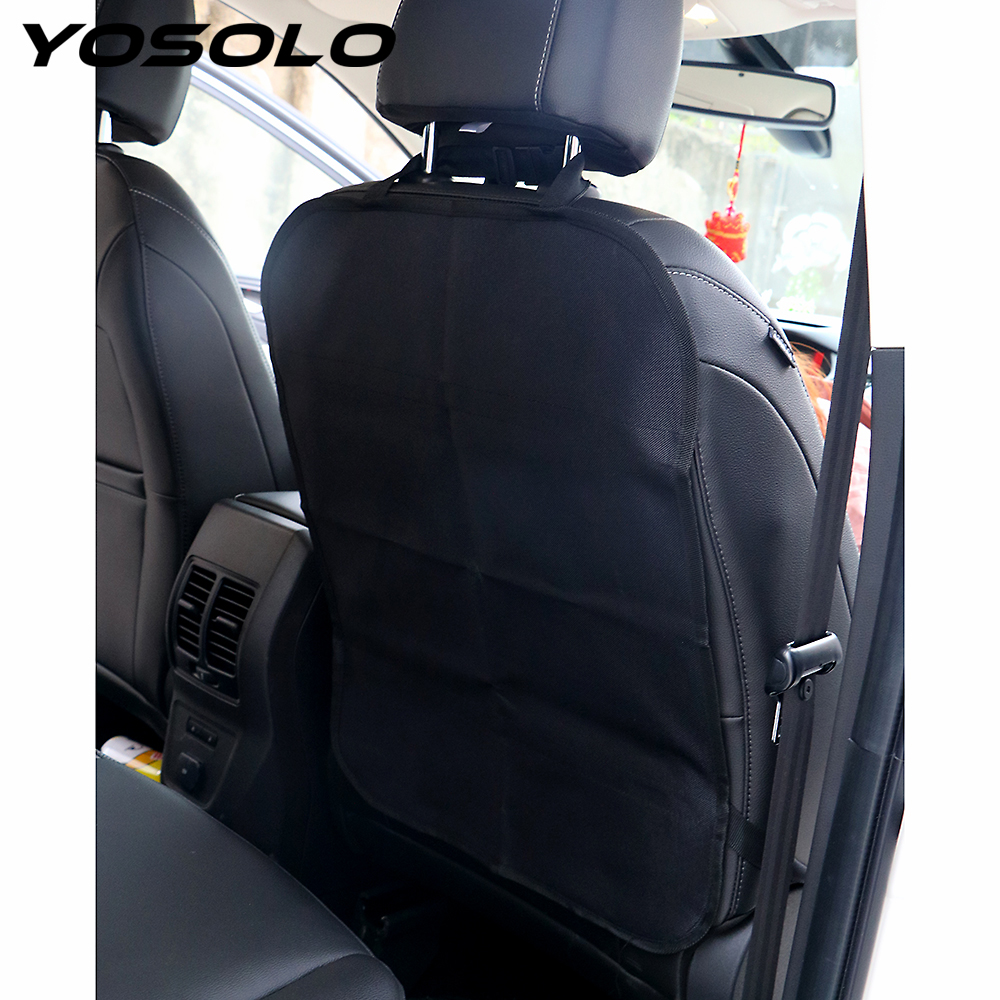 YOSOLO Car Anti Kick Pad Auto Seats Covers Protectors Protect from Mud Dirt Car Seat Back Cover Protection from Children Baby