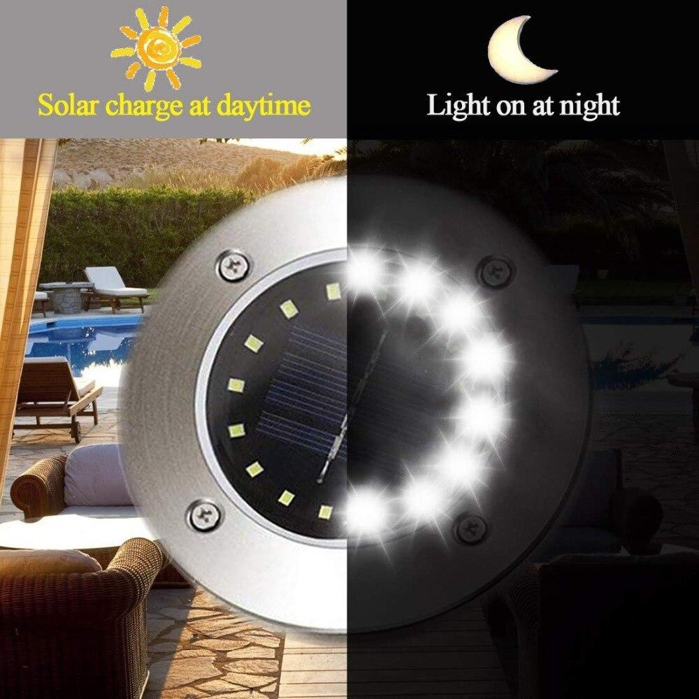 luzes solares à terra à prova dwaterproof