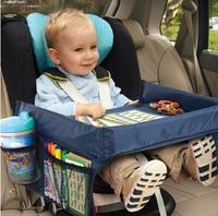 Children Toddlers Car Safety Belt Travel Play Tray Waterproof Table Baby Car Seat Cover Harness Buggy