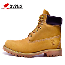 Genuine Leather Men Boots Ankle Boots New England Martin Boots Shoes Men Fashion Shoes Men Autumn And Winter Men Boots