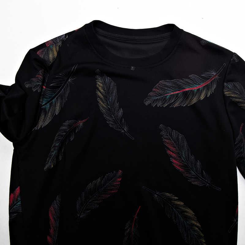 2019 дизайнерский пуловер перо мужской свитер платье тонкий трикотаж трикотажные свитера Мужская одежда зауженного покроя трикотаж модная одежда 41241