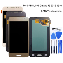 AMOLED Per Samsung Galaxy J5 2016 J510 J510F J510FN J510M Display LCD Touch Screen digitizer Pannello di Tocco di replacemen Parti Del Telefono