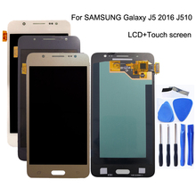 AMOLED for Samsung's Galaxy J5 2016 J510 LCD Monitor Touch Screen J510 J510F J510FN J510M Screen LCD Digitizer Display+Free Tool brand new pn j510 410 3m microtouch touch screen well tested working three months warranty