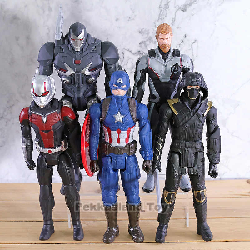 "Titan Hero Power FX Avengers Thanos Hulk Captain America Marvel Iron Man Thor สงครามเครื่อง Ant Man 12 ""PVC action Figure ของเล่น"