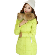 Winter Jacket Women 2016 Slim Women's Down Jacket Hooded Winter Jacket For Women Fur Winter Coat Women New Jaqueta Feminina 0803