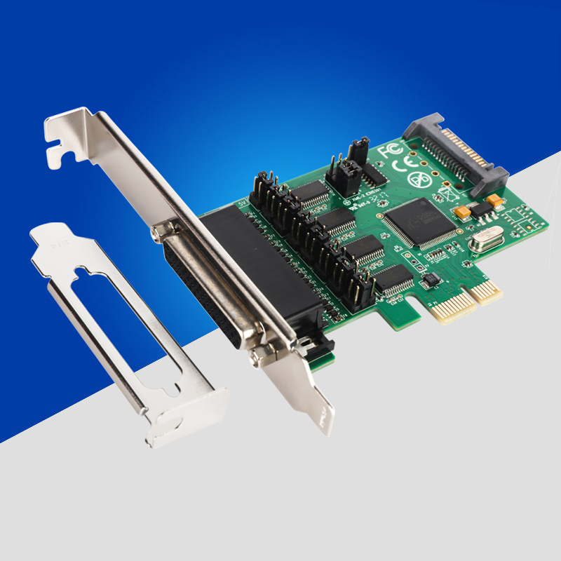 New PCI E PCI Express to 4 Port RS232 Multi Serail Card WCH384L Chipset DB9 pin COM Adapter PCIE Controller with Fan out Cable