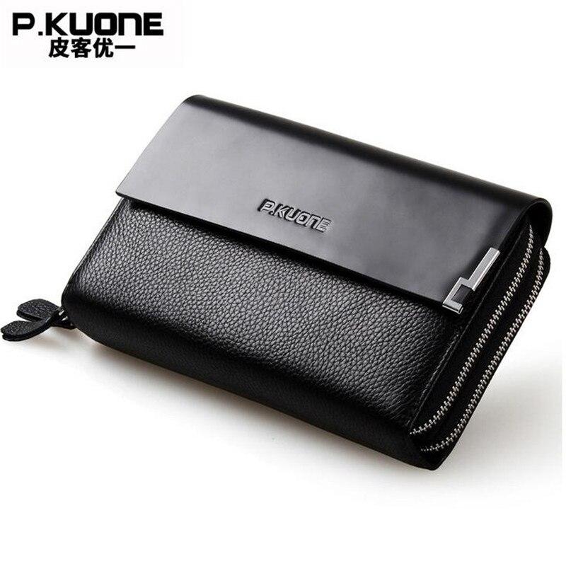 Фото P.KUONE Cow Leather Wallet Luxury Business Men