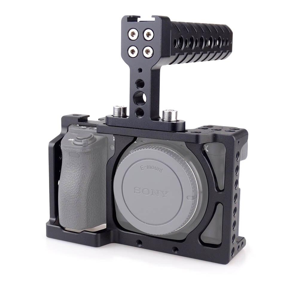 MAGICRIG DSLR caméra Cage avec poignée supérieure pour Sony A6000/A6300/A6500/ILCE-6000/ILCE-6300/ILCE-6500/NEX7-502