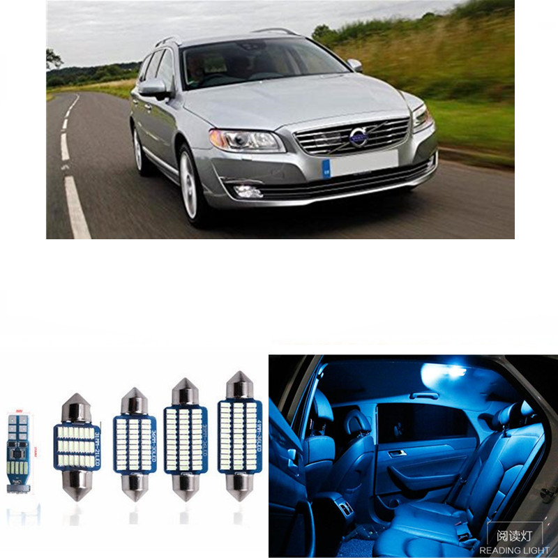 14pcs Canbus Car LED Light Bulbs Interior Package Kit For 2002-2007 Volvo V70 Estate XC70 Map Dome Trunk Lamp white ice blue wljh 11x canbus 2835 smd led dome map interior light kit for chevrolet cruze equinox sonic malibu spark suburban traverse 2015