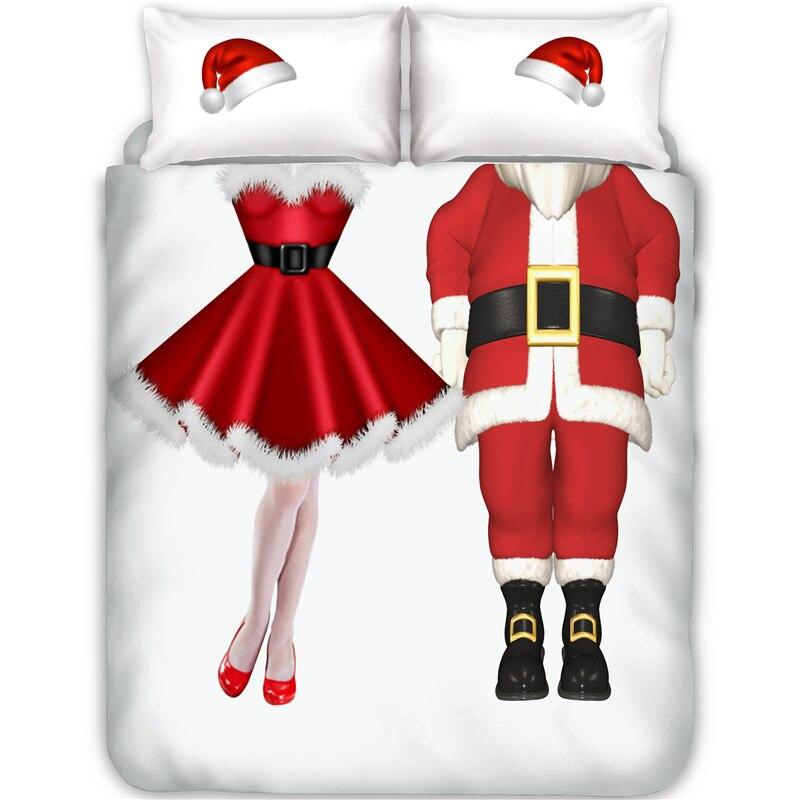 christmas bedding duvet cover pillowcase set doublefullqueenking size holiday bedroom decor no sheet no filling - Christmas Bedding Holiday Bedding