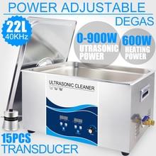 Industriële 22L Ultra Sonic Cleaner Bad 0 ~ 900W Power Verstelbare Digitale Degas Sonic Wasmachine Lab Auto Onderdelen pcb Hardware