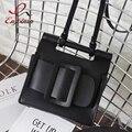 Мода новый стиль дизайна простой искусственная кожа дамы случайные сумки щитка женщин сумка сумочка crossbody сумка сумка