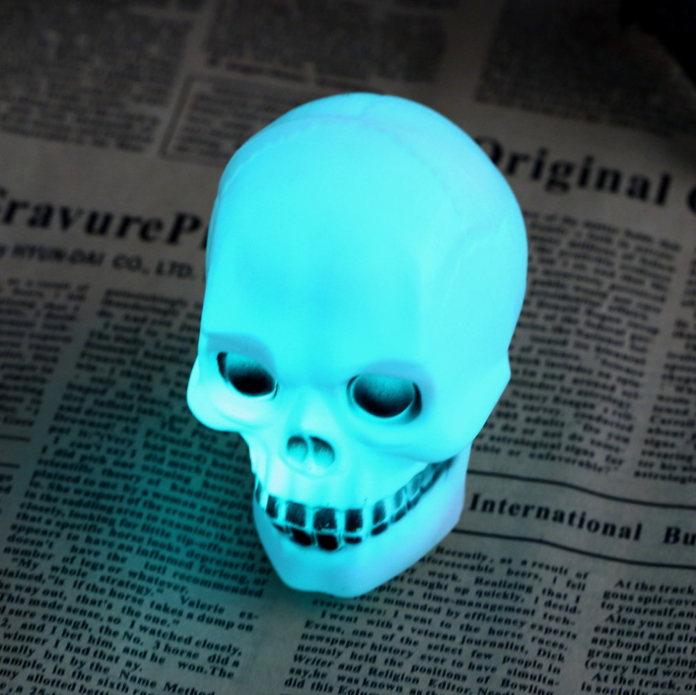 ICOCO 1pc LED Colorful Flash Night Light Halloween Party Skull Lamp Decoration Gift  Worldwide Store Better Goods