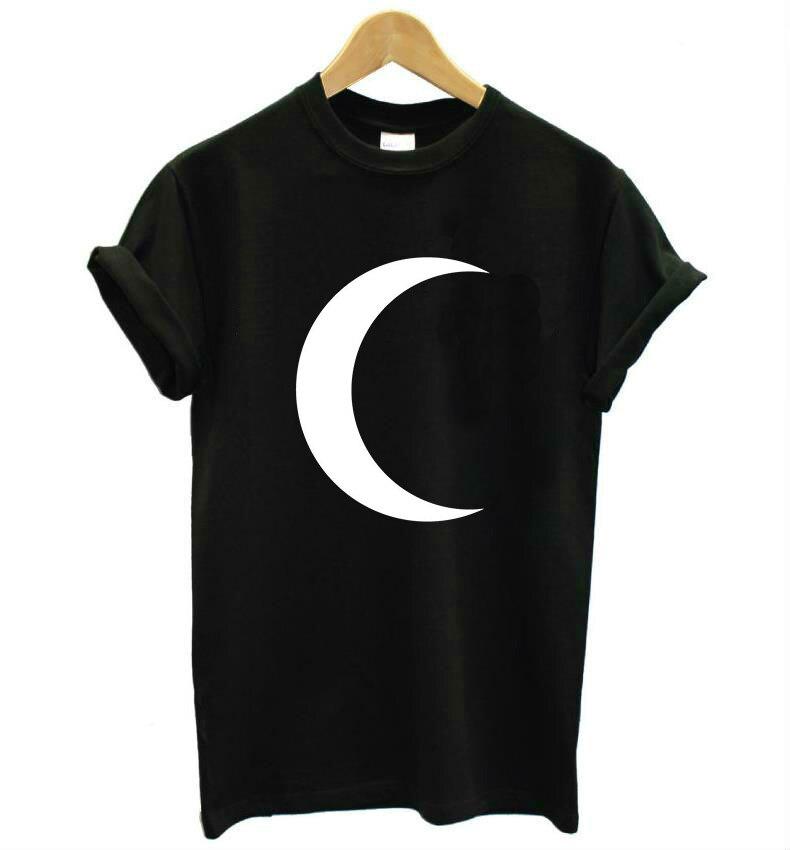Crescent moon Druck Frauen t-shirt Baumwolle Casual Lustiges t-shirt Für Dame Top T Hipster Tumblr Drop Ship Z-812