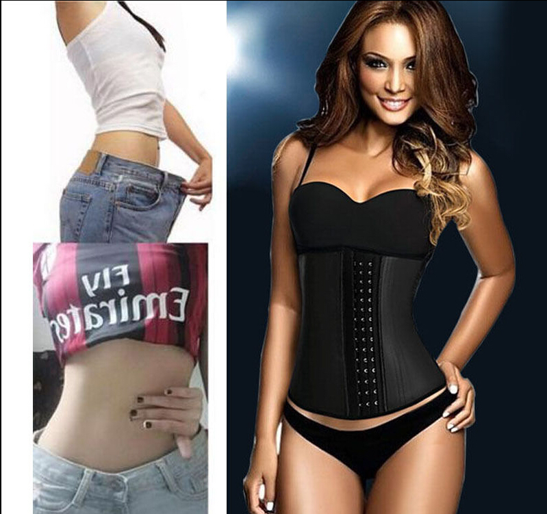 1b3841a4d2 2016 Waist Corsets100% Latex Cincher Women Hot Body Shapers Rubber Bodysuit  Slimming Fajas Shapewear Plus Size 6X-in Waist Cinchers from Underwear ...