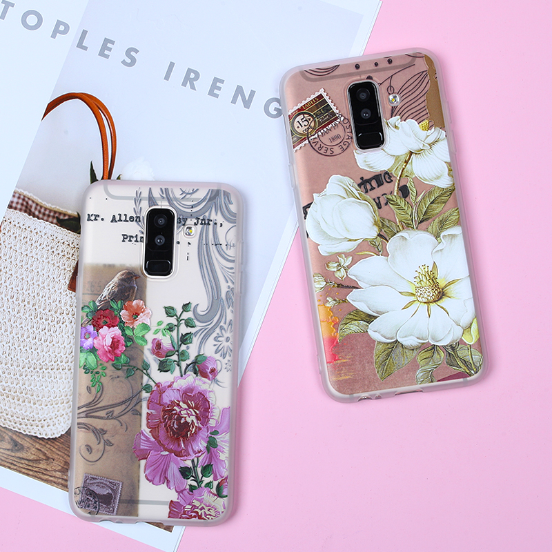 Image 3 - EIRMEON 3D Relief Case For Samsung Galaxy A6 Plus 2018 S8 S7 Edge S9 Plus A5 2017 J2 J3 J5 J7 A3 A5 A7 2016 J6 2018 Floral Cases-in Fitted Cases from Cellphones & Telecommunications