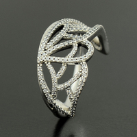 925 Sterling Silver New Beginning Butterfly Ring Compatible with European Famous Brand Jewelry