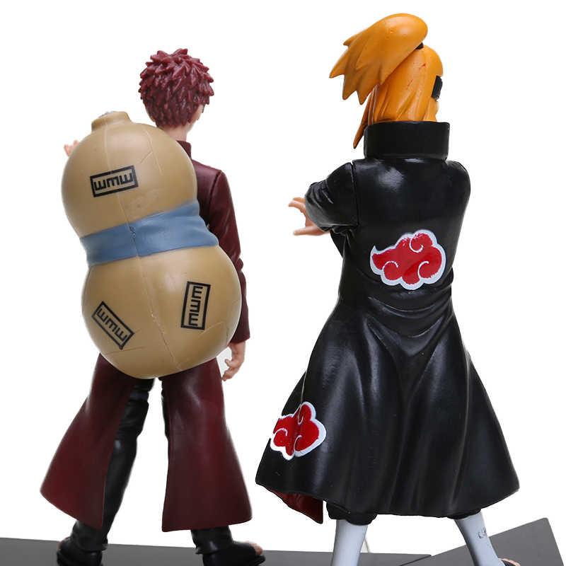 14-24cm 2 pçs/set Naruto Shippuden Figuras PVC Definir Hatake Kakashi Shikamaru Uchiha Sasuke Namikaze Minato Hyuuga Hinata Brinquedo Modelo