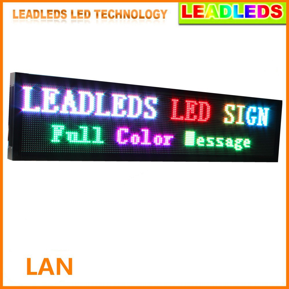 Outdoor P10 RGB LED Sign Moving Message Display 1680x400x90mm(WHT) (5)