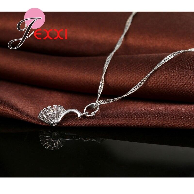 Jemmin 925 Sterling Silber Kugel Anhänger Halskette Disc Ohrringe Set Frauen Weibliche Hochzeit Elegante CrystalJewelry Sets Geschenk