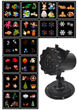 16 film Replaceable Night Lamp Auto Moving New LED Projector Laser Stage Light elf projection Lawn light for outdoor garden