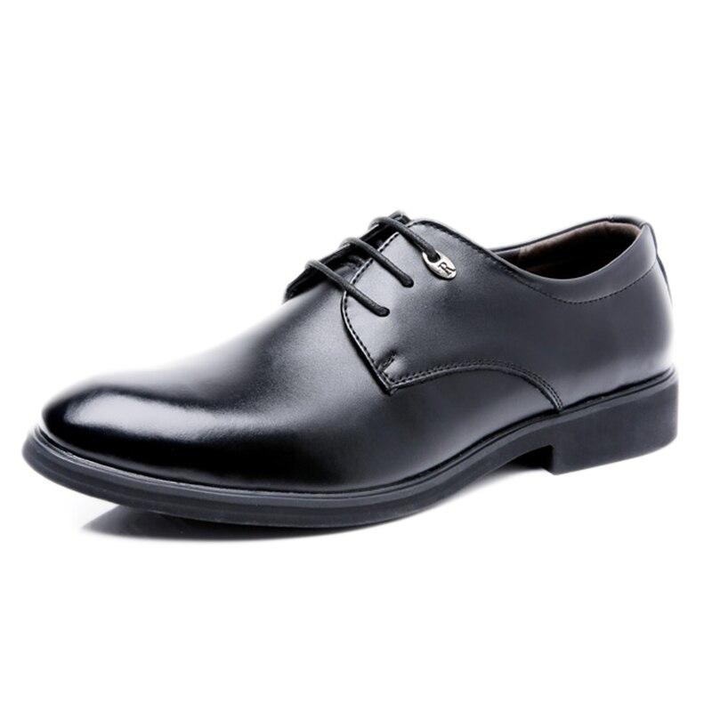 Lacets 44 À Formelle Robe Tailles En D'affaires Zapatos Hommes Hombre marron Mode Cuir Noir Chaussures brun 38 Noir 2018 B0axqW